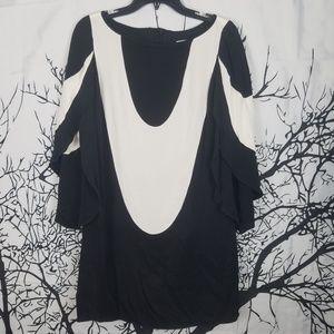 Milly | Butterfly Sleeve Boat Neck Dress   size 2